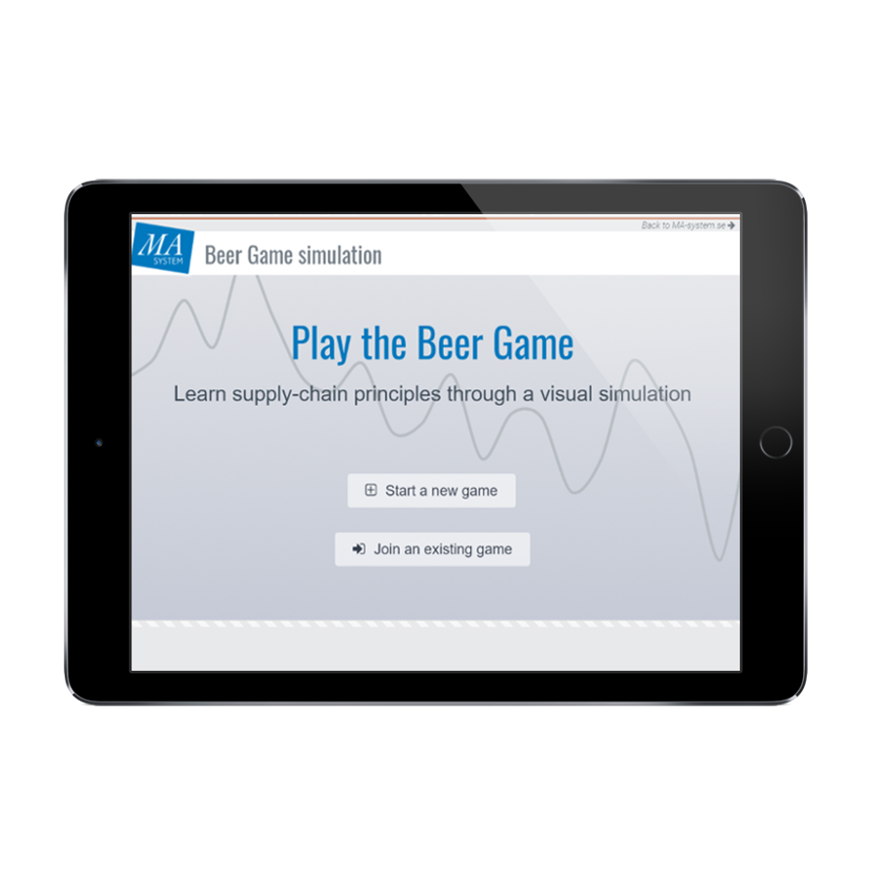 MA-system lanserar en ny version av the BeerGame