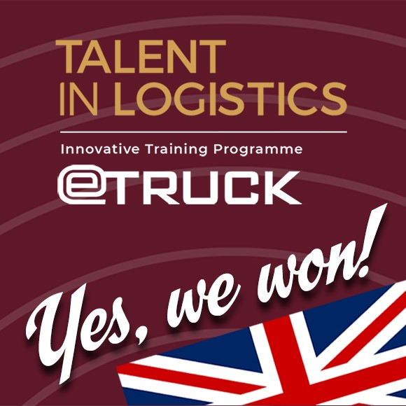 eTruck har vunnit pris i Talent in Logistics Awards!