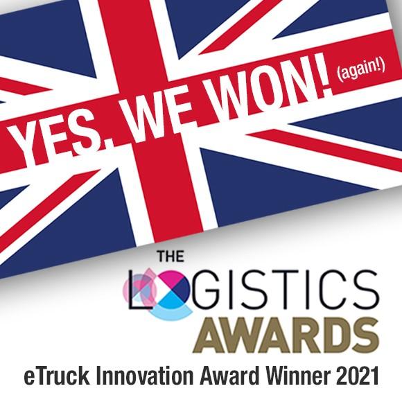eTruck har vunnit pris i The Logistics Awards!